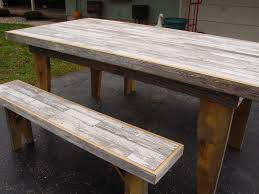 style reclaimed pallet wood dining table