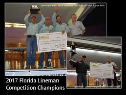 City Of Tallahassee Utility Florida Linemen Recognized At The Florida Municipal Electric