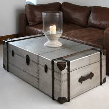 Silver Leaf Hardwood Trunk Style Table Chairish Tables Trunks Regarding  Silver Trunk Coffee Tables (Image