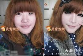 chinese s makeup before and after 15