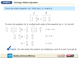 6 solving a matrix equation