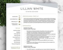 Modern Resume Templates 19 Professional Resume Modern Resume Template Word CV  Professional