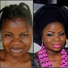 jaw dropping before and after photo that shows the power of makeup wedding digest naija