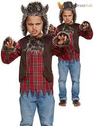 childs werewolf costume boys girls wolf fancy