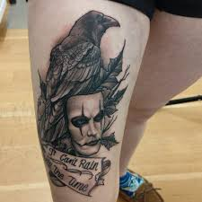 Crow Tattoo I Got To Do The Other Day Thecrow Blackandg Flickr