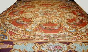 d349 oversize antique french aubusson rug