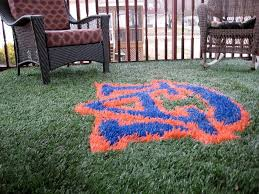 12x12 tailgate rug on patio deck