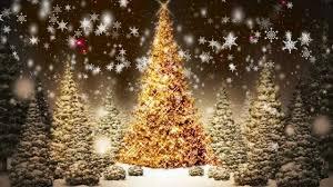 Falling Christmas Tree Lights Snowflakes Falling Christmas Trees Motion Graphic Video Loop