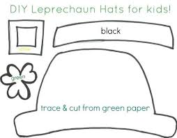 template of a leprechaun leprechaun hat template leprechaun hats leprechaun paper hat