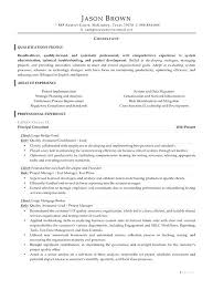 Consultant Resume Example It Consultant Resume Examples Security ...