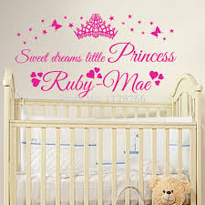 personalised sweet dreams little princess custom name baby girl wall art sticker in wall stickers from home garden on aliexpress alibaba group on personal wall art baby name with personalised sweet dreams little princess custom name baby girl wall