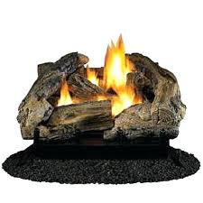 gas fireplace logs glowing embers canada vent free