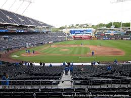 Kauffman Stadium View From Dugout Plaza 236 Vivid Seats