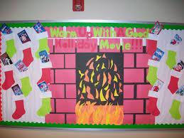 winter bulletin board ideas. Exellent Winter For His December Bulletin Board Billy Has Created An Elaborate Design Of A  Fireplace  Winter Bulletin Board Ideas I
