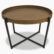 granville round metal coffee table