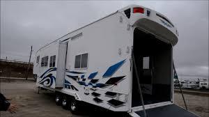 sold 2008 weekend warrior used toy hauler rv cer trailer r door garage