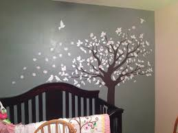 Varnished Dark Baby Wall Art For Nursery Wooden Bedding Furniture Oak  Rustic Lacquired Varnished Dark Grey Tree Murals