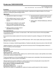 Sample Resume of Bank Resume In Ma