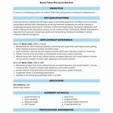 Banking Resume Summary Archives Sierra 29 Elegant Banking Resume