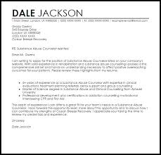 Substance Abuse Counselor Cover Letter Sample | LiveCareer