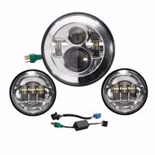 motorcycle led headlight wiring diagram wiring library 1set new 4 5 motorcycle led fog lights 4 1 2 inch 7inch 40w harley