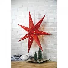 Led Papierstern Redstar Rot Mit Sternenmuster ø70cm 7 Zacken Mojawode Livestyle Und Wohndekoration