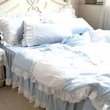 magic bed skirt light blue bed skirt bedding set handmade lace cotton ruffle bed skirt lace