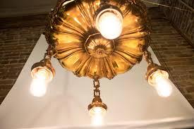 bronze suspended bulb chandelier