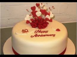 Wedding Anniversary Cake Youtube