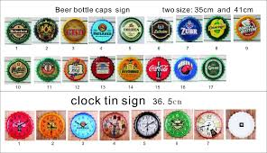 Decorated Bottle Caps wholesale Vintage Beer Bottle Cap Wall Decoration Innovative Mural 42