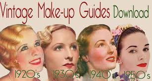 vine makeup guides 1930 s makeup tutorial books