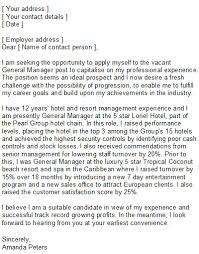 Sample Cover Letter For Hospitality Industry Example Of Cover Letter For Hospitality Position My