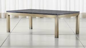 Parsons Black Marble Top/ Brass Base 48x28 Small Rectangular Coffee Table  ...