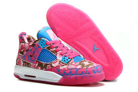 jordan shoes for girls 2015 pink. womens air jordan 4 retro gs rose cherry pink dynamic blue-white for girls sale shoes 2015