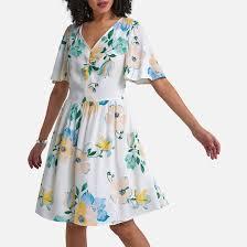 <b>Платье</b> с короткими рукавами и <b>цветочным</b> рисунком рисунок ...