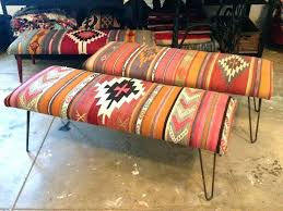 rug covered ottoman rug covered ottoman blue bench large benches and s upholstered benches benches oriental rug covered ottoman