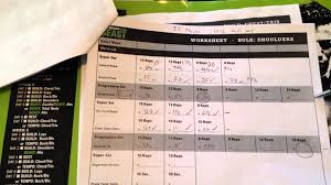 workout sheets using the workout sheets with body beast beachbody bulk phase
