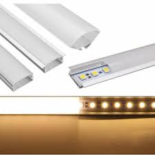 Clip On Fluorescent Light Covers 50cm U Yw V Shape Aluminum Channel Holder For Bar Under