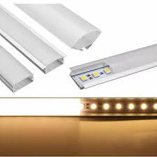 Under Cabinet Fluorescent Light Covers 50cm U Yw V Shape Aluminum Channel Holder For Bar Under