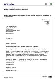 Complaint Letter Writing Format Images Letter Samples Format