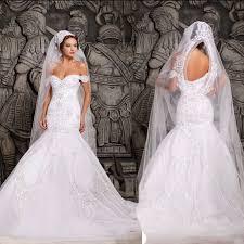 luxurious mermaid wedding dresses white off the shoulder bridal