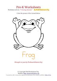 Pre-K Worksheets Animal Coloring Activities | Pre K Worksheets Org