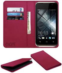 Lava Iris 349+ Flip Cover by ACM - Pink ...