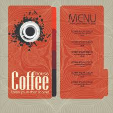 Coffee House Menu Cover Design 04 Free Download
