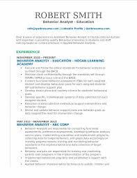sample of cover letters for applied behavior anlalysis behavior analyst resume samples qwikresume