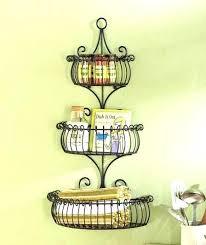 wall baskets decor decorative wall baskets 3 tier scroll basket pocket storage elegant planter decor hanging wall baskets decor