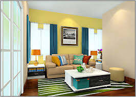 living enjoyable curtains for yellow walls blue with home design ideas
