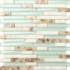 Beach Style Glass Tile Mother Of Pearl Shell Resin Kitchen Simple Resin Backsplash Ideas