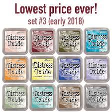 Distress Ink Color Chart 2017 Distress Oxide Ink Pads By Tim Holtz Set 3 Early 2018 All 12 Colors