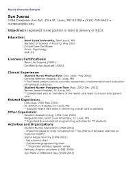 Sample Nursing Student Resume Clinical Experience Free Resume